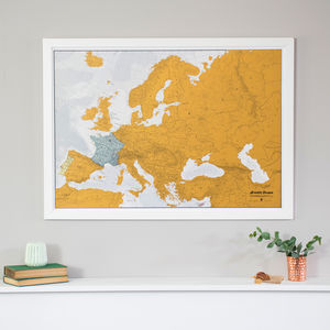 Scratch Europe Print With Coin