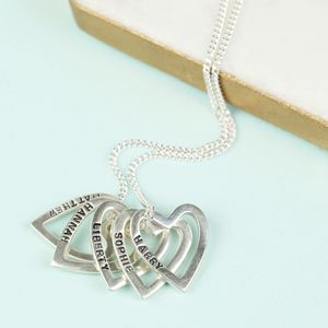 Personalised Sterling Silver Multi Heart Necklace - women's jewellery