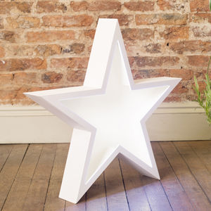 Star LED Colour Changing Free Standing Marquee Light - table lamps
