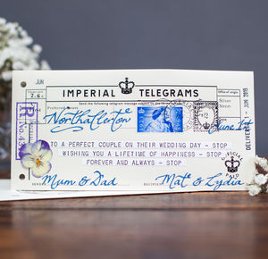 Congratulations! Telegram - wedding cards