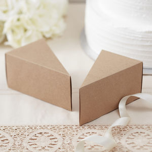 Kraft Vintage Wedding Day Cake Boxes - winter sale