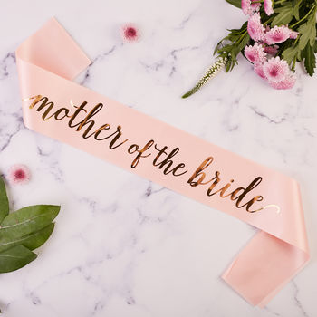 Mother Of The Bride Hen Party Sash