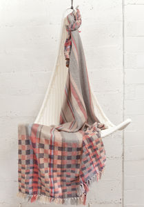 Celine Check Handwoven Blanket - throws, blankets & fabric