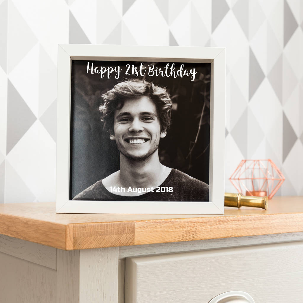 Personalised Happy Birthday Box Frame With Photo