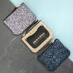 Stardust Glitter And Leather Purse