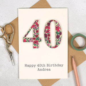 Personalised Liberty Special Age 40th Birthday Card - birthday cards