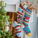 Hand Knitted Christmas Stockings In Organic Cotton