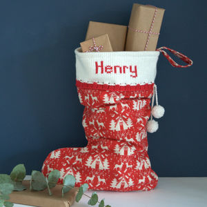 Red Personalised Christmas Stocking