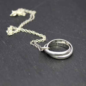 Personalised Interlinking Script Necklace - necklaces & pendants