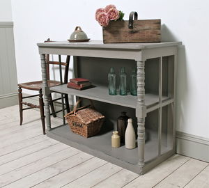 Distressed Antique Console Table - storage & organisers