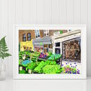 Columbia Road, East London Illustration Print
