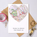 Map Location Heart New Home Card