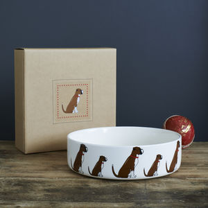 Boxer Dog Bowl - new in pets