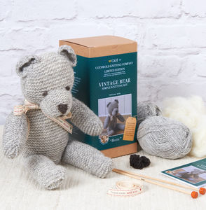 Limited Edition 'Bertie' The Vintage Bear Knitting Kit - sewing & knitting