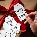 Modern Hand Lettered Christmas Gift Tags