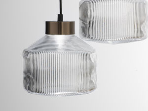 Pharos Pendant Lamp, Clear Glass