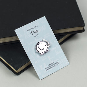 Elephant Enamel Pin - children's jewellery