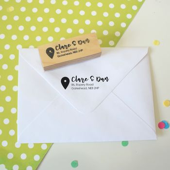 Location Marker Personalised Return Address Stamp