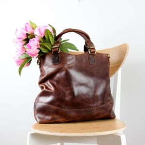 Clifton Brown Leather Tote