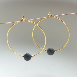 Matt Stone Hoop Earrings