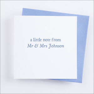 Single Or Pack Of Personalised 'Little Note' Cards D3