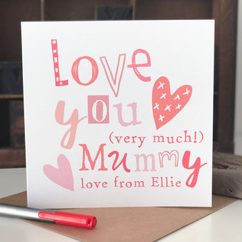 Personalised Mother's Day Card For Mummy