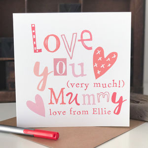 Personalised Mother's Day Card For Mummy - valentine's cards