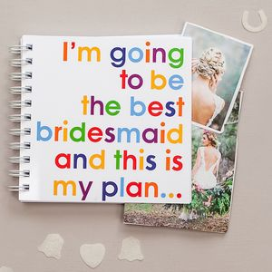 Best Bridesmaid Notebook Gift For Bridesmaids