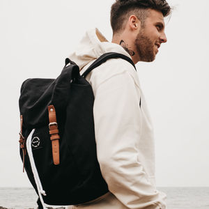 'Brave Free Wild As The Sea' Black Rucksack And Tote - gifts for teenagers