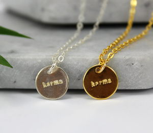 Sterling Silver And Gold Karma Charm Necklace - necklaces & pendants