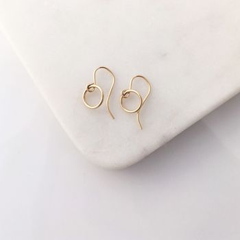 Small Gold Open Circle Earrings