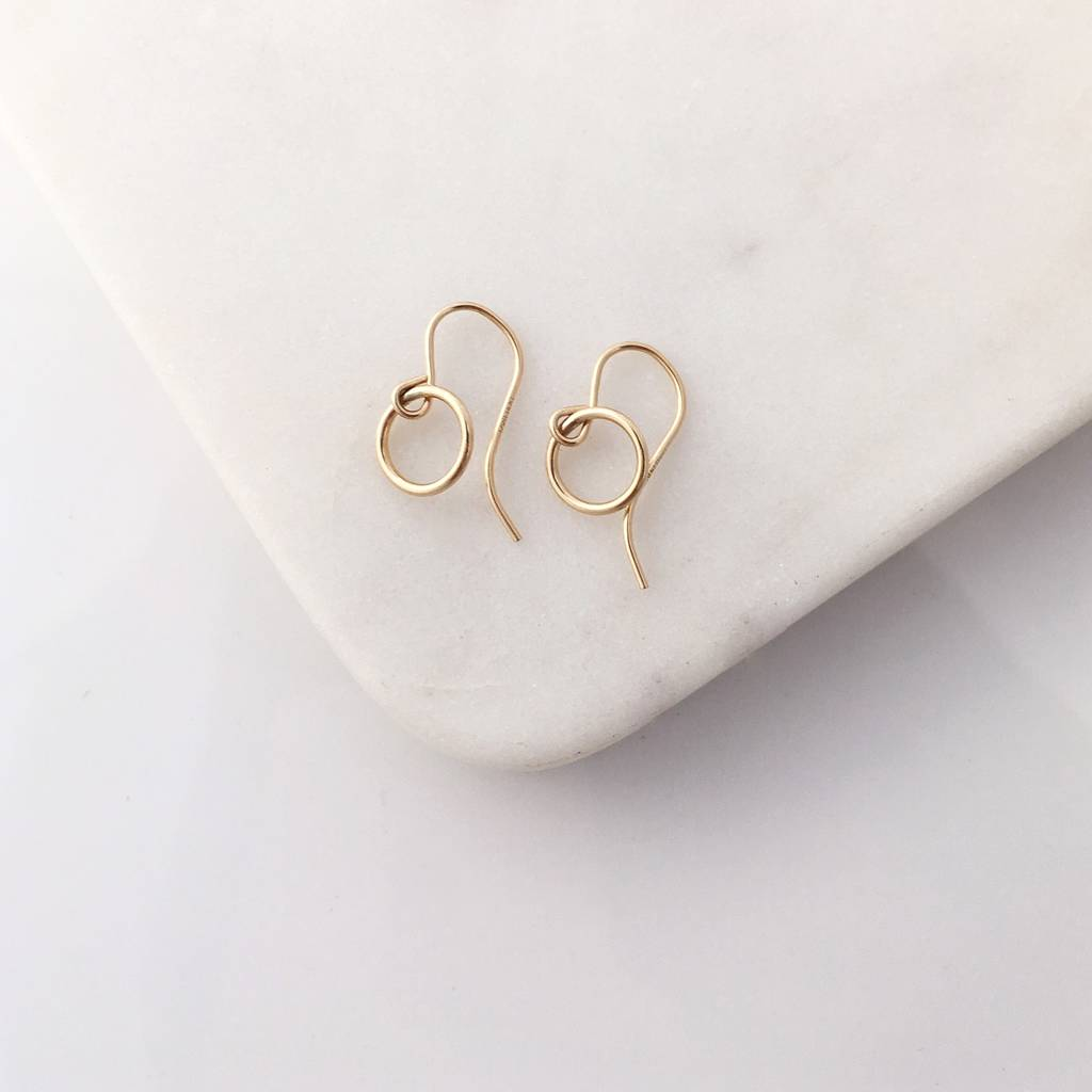 open gold format vermeil meikah circle rose jewellery earrings studs