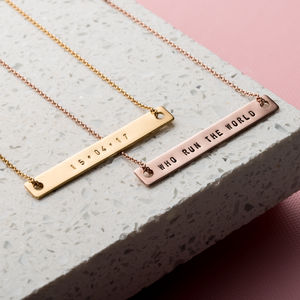 Personalised Flat Bar Necklace - necklaces & pendants