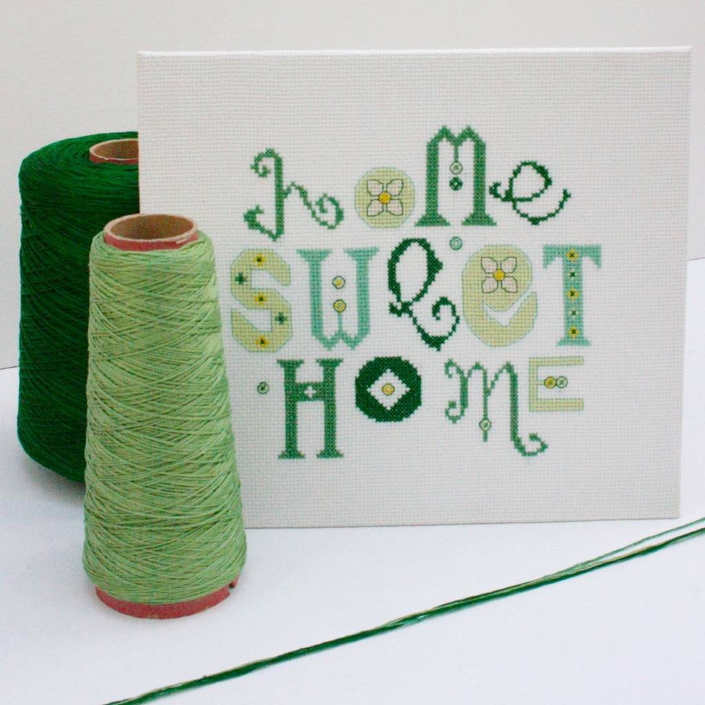 home sweet home cross stitch kit by stitchkits