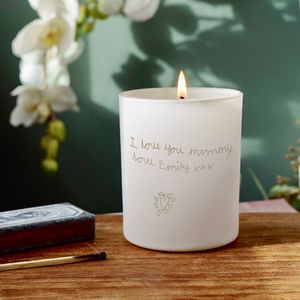 Personalised Child's Handwriting Scented Candle