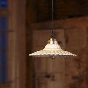 Da Gama White Ceramic Hanging Lamp - ceiling lights