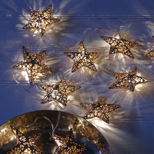 Copper Star Battery Fairy Lights