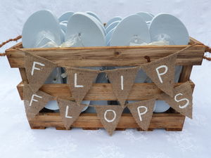 Personalised Crate Wedding/Party Flip Flops - wedding favours