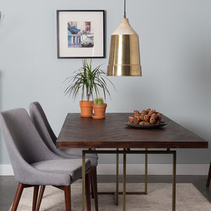 Class Herringbone Dining Table - dining tables