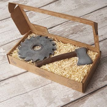 Chocolate Axe And Saw Blade Gift Box