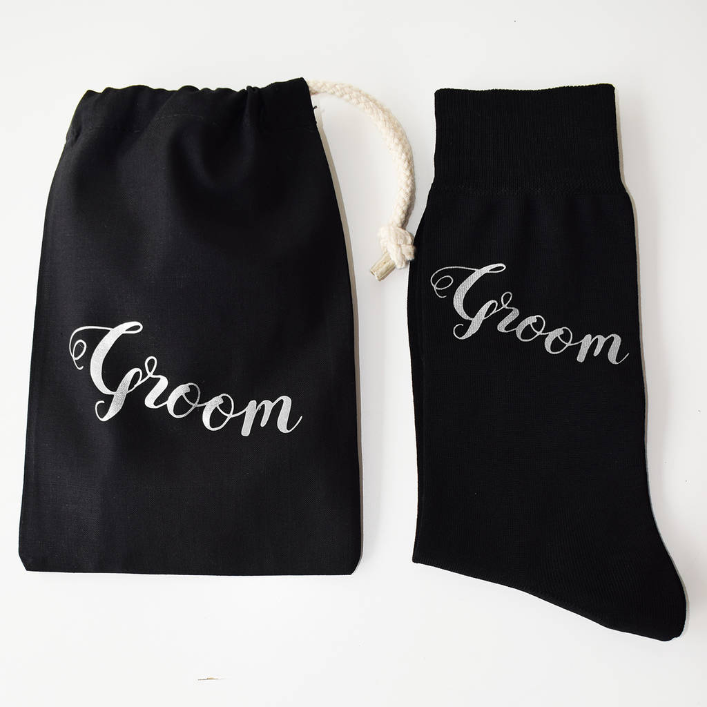 Groom Wedding Day Gift: Groom, Wedding Day Gift Socks By Weasel And Stoat