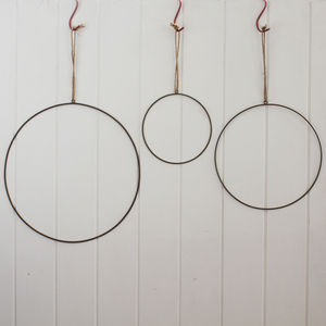 Brass Wire Hanging Hoop Decoration - decorative accessories