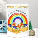 Personalised Rainbow Christmas Card