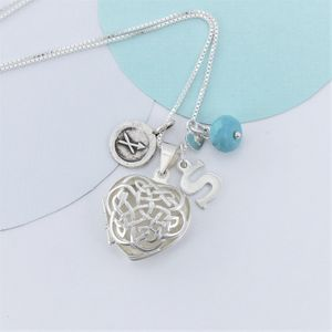 Celtic Heart Locket Personalised With Birthstone - necklaces & pendants