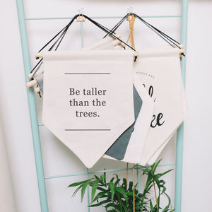'Be Tall' Typography Banner Sign - hanging decorations