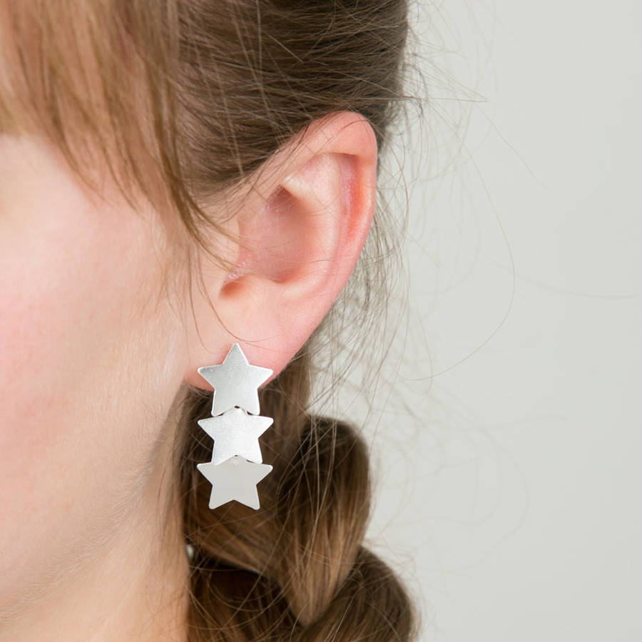 Lovethelinks Cascading Stars Earrings