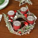 Natural Pine Cone Christmas Candle Holder Centrepiece