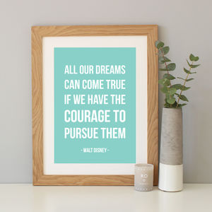 Walt Disney Inspirational Quote Print