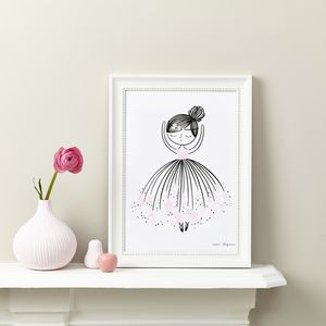 Ballerina Doll Children's Art Print - activities & sports