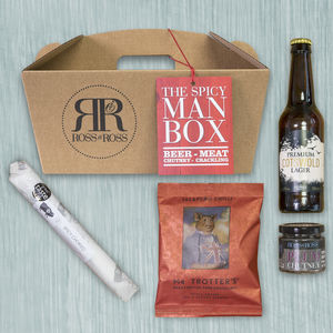Spicy Man Box Beer - gifts for him